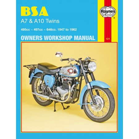 A7 A10 Twins 47-62 Revue technique Haynes BSA Anglais