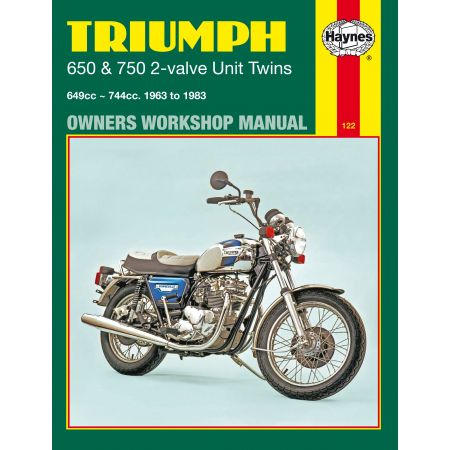 650 750 2-valve Unit Twins 63-83 Revue technique Haynes TRIUMPH Anglais
