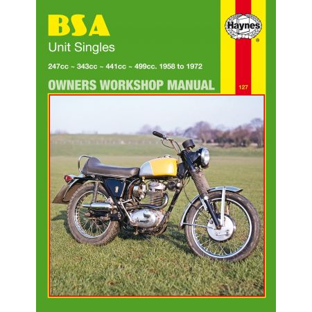 Unit Singles 58-72 Revue technique Haynes BSA Anglais