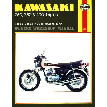 250 350 400 Triples 72-79 Revue technique Haynes KAWASAKI Anglais
