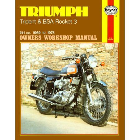 Trident Rocket 3 1969-75 Revue technique Haynes TRIUMPH BSA Anglais