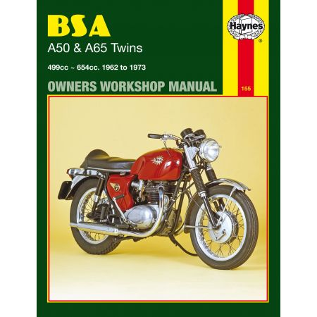 A50 A65 Twins 62-73 Revue technique Haynes BSA Anglais