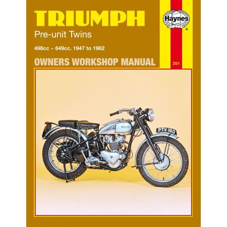 Pre-Unit Twins 47-62 Revue technique Haynes TRIUMPH Anglais