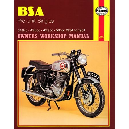 Pre-unit Singles 54-61 Revue technique Haynes BSA Anglais