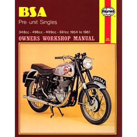 Pre-unit Singles 54-61 Revue technique Haynes BSA Anglais
