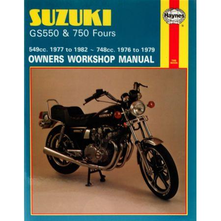 GS550 77-82 GS750 Fours Revue technique Haynes SUZUKI Anglais