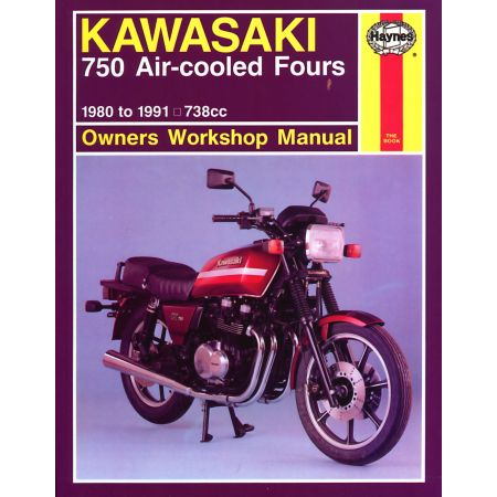 750 Air-cooled Fours 80-91 Revue technique Haynes KAWASAKI Anglais
