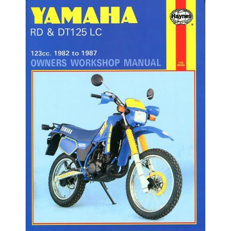 RDLC DTLC 125 82-87 Revue technique Haynes YAMAHA Anglais