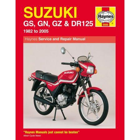 GS GN GZ DR 125 Singles 82-05 Revue technique Haynes SUZUKI Anglais