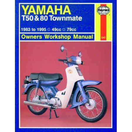 T50 T80 Townmate 83-95 Revue technique Haynes YAMAHA Anglais