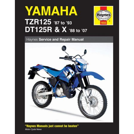 TZR125 87-93 and DT125R X 88-07 Revue technique YAMAHA Haynes Anglais