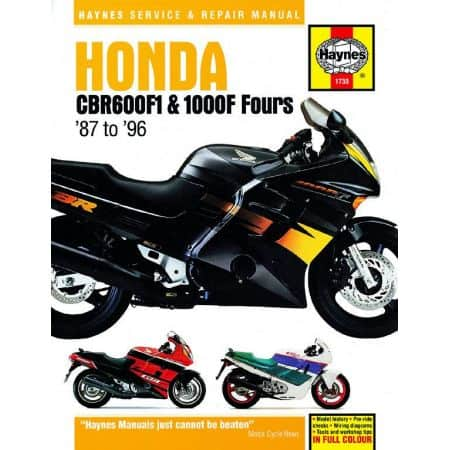 CBR 600 F1 and 1000F Fours 87-96 Revue technique HONDA Haynes Anglais