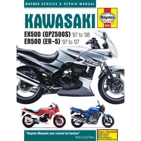 EX500 GPZ500S ER500 ER-5 87-08 Revue technique KAWASAKI Haynes Anglais