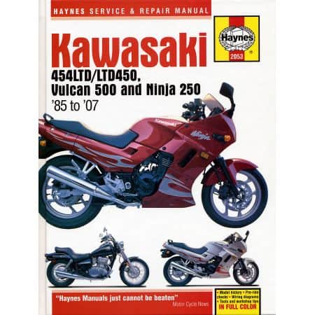 454LTD LTD450 85-07 Revue technique Haynes KAWASAKI Anglais