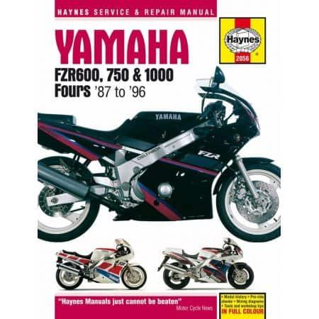 FZR 600 750 1000 Fours 87-96 Revue technique Haynes YAMAHA Anglais