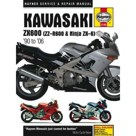 ZX600 ZZ-R600 Ninja ZX6 Revue technique Haynes KAWASAKI Anglais