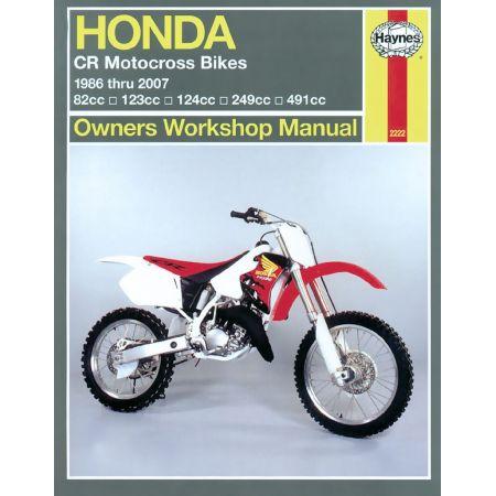 CR Motocross Bikes 86-07 Revue technique Haynes HONDA Anglais