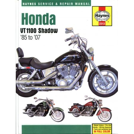 VT1100 Shadow 85-07 Revue technique Haynes HONDA Anglais