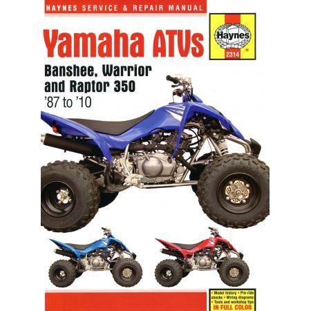 Banshee Warrior Raptor ATVs 87-10 Revue technique Haynes YAMAHA Anglais