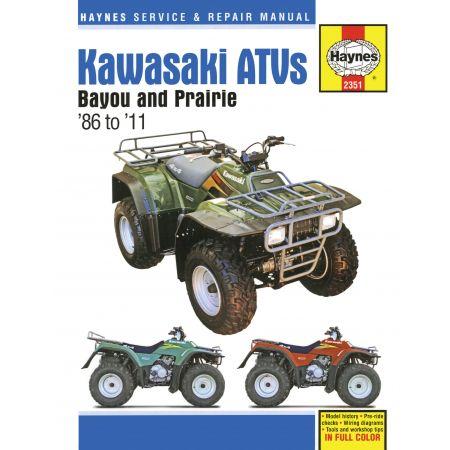 Bayou Prairie ATVs 86-11 Revue technique Haynes KAWASAKI Anglais