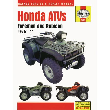 ATVs Foreman and Rubicon 95-11 Revue technique Haynes HONDA Anglais