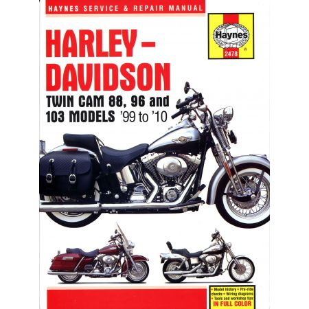 Twin Cam 88 96 103 99-10 Revue technique Haynes HARLEY Anglais