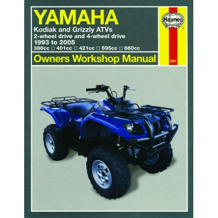 Kodiak and Grizzly ATVs 93-05 Revue technique Haynes YAMAHA Anglais
