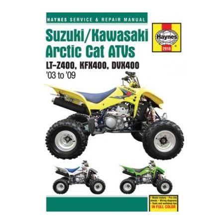 Arctic Cat ATVs 03-09 Revue technique Haynes SUZUKI KAWASAKI Anglais