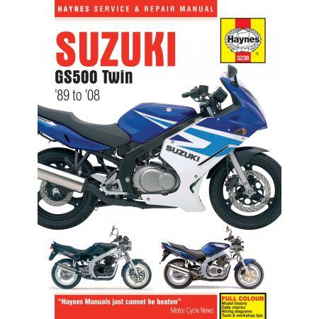 GS500 Twin 89-08 Revue technique Haynes SUZUKI Anglais