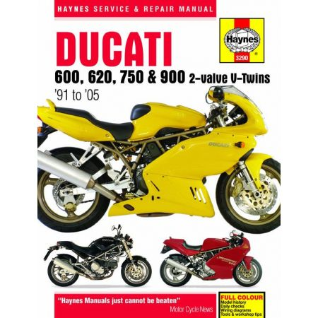600 620 750 and 900 91-05 Revue technique Haynes DUCATI Anglais