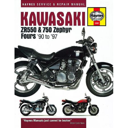 ZR 550 750 Zephyr Fours 90-97 Revue technique Haynes KAWASAKI Anglais