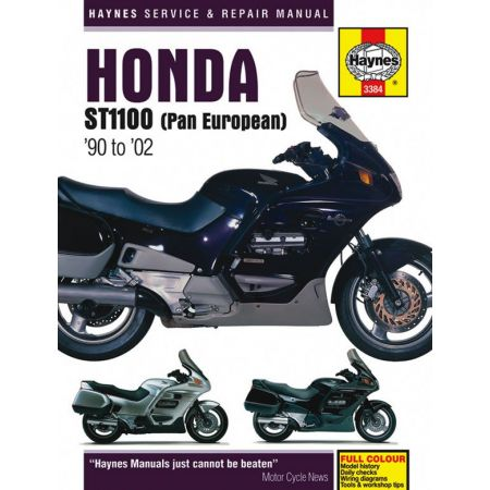 ST1100 Pan European V-Fours 90-02 Revue technique Haynes HONDA Anglais