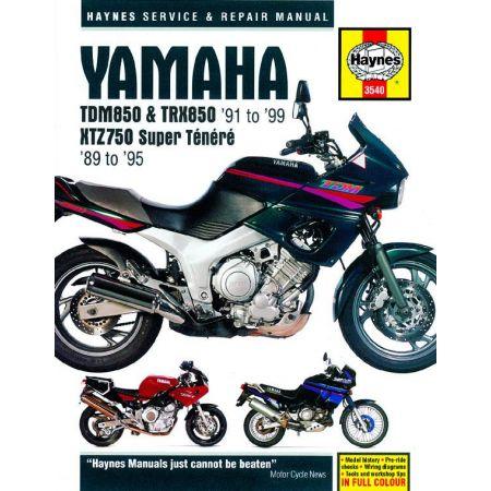 TDM850 TRX850 XTZ750 89-99 Revue technique Haynes YAMAHA Anglais