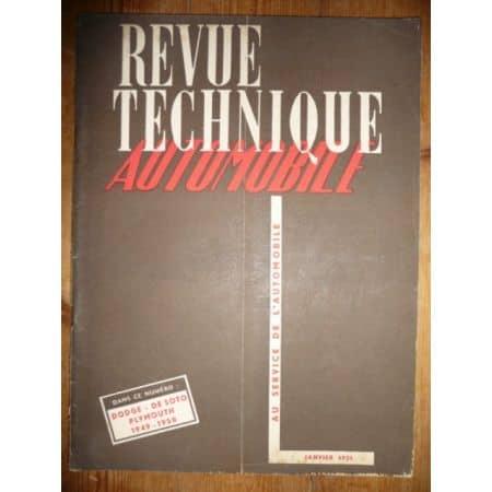 49-50 Revue Technique Dodge Plymouth De Soto