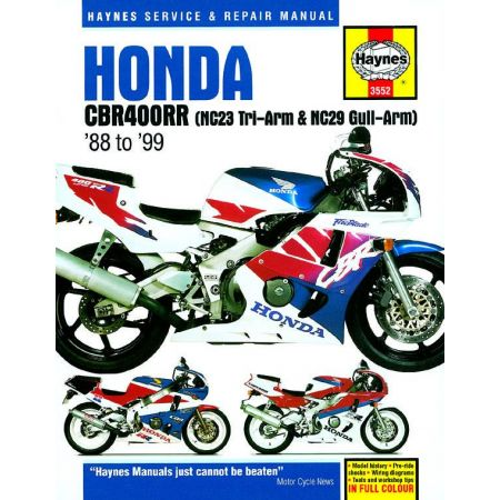 CBR 400 RR Fours 88-99 Revue technique Haynes HONDA Anglais