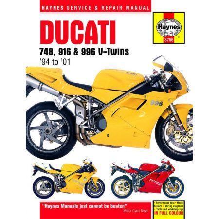 748 916 996 4-valve V-Twins 94-01 Revue technique Haynes DUCATI Anglais