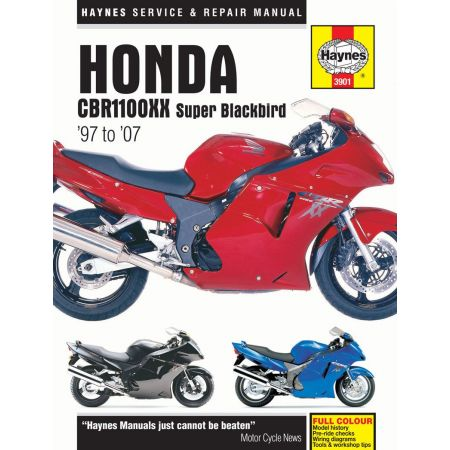 CBR1100XX Super Blackbird 97 -07 Revue technique Haynes HONDA Anglais