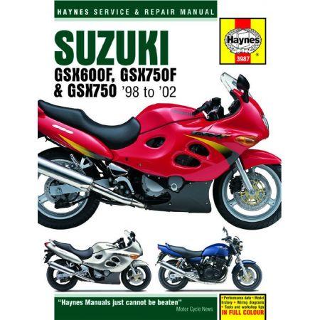 GSX 600 750F 750 98-02 Revue technique Haynes SUZUKI Anglais