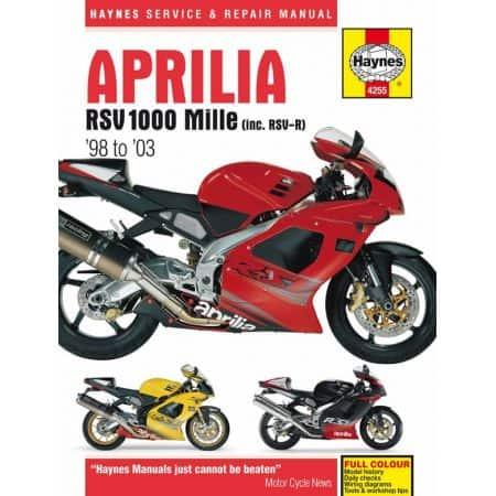 RSV 1000 Mille 98-03 Revue technique Haynes APRILIA Anglais
