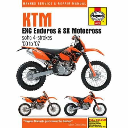 EXC Enduro SX Motocross 00-07 Revue technique Haynes KTM Anglais