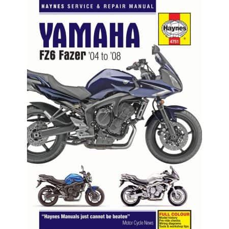 FZ6 Fazer 04-08 Revue technique Haynes YAMAHA Anglais