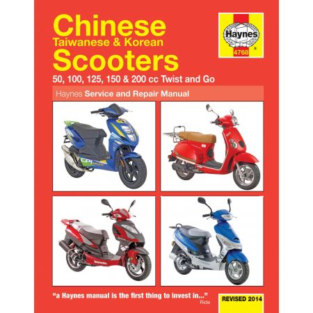 Chinese Taiwanese Korean Scooters Revue technique Haynes Anglais