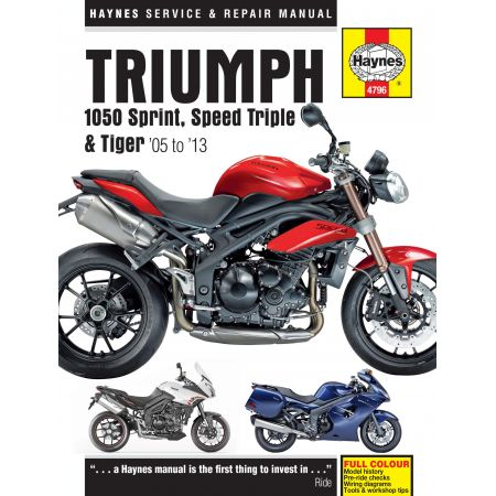 1050 Sprint ST Speed 05-13 Revue technique Haynes TRIUMPH Anglais