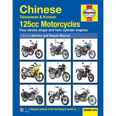 Chinese Taiwanese Korean 125cc Motorcycles Revue technique Haynes Anglais