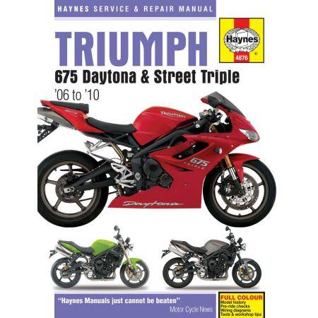 675 Daytona Street Triple 06-10 Revue technique Haynes TRIUMPH Anglais