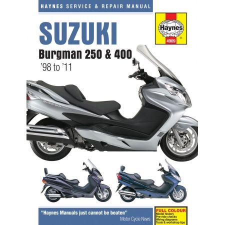 Burgman 250 400 98-11 Revue technique Haynes SUZUKI Anglais