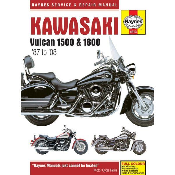 Vulcan 1500 1600 87-08 Revue technique Haynes KAWASAKI Anglais