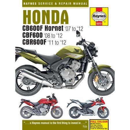 CB600 Hornet CBF600 CBR600F 07-12 Revue technique Haynes HONDA Anglais