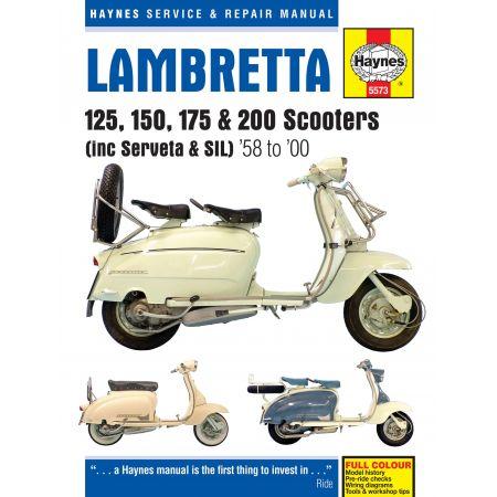 Scooters 58-00 Revue technique Haynes LAMBRETTA Anglais