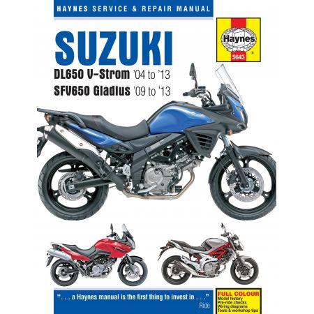 DL650 V-Strom SFV650 Gladius 04-13 Revue technique Haynes SUZUKI Anglais